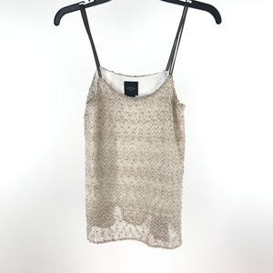 Anthropologie Deletta Adorned Whimsy Tank Top